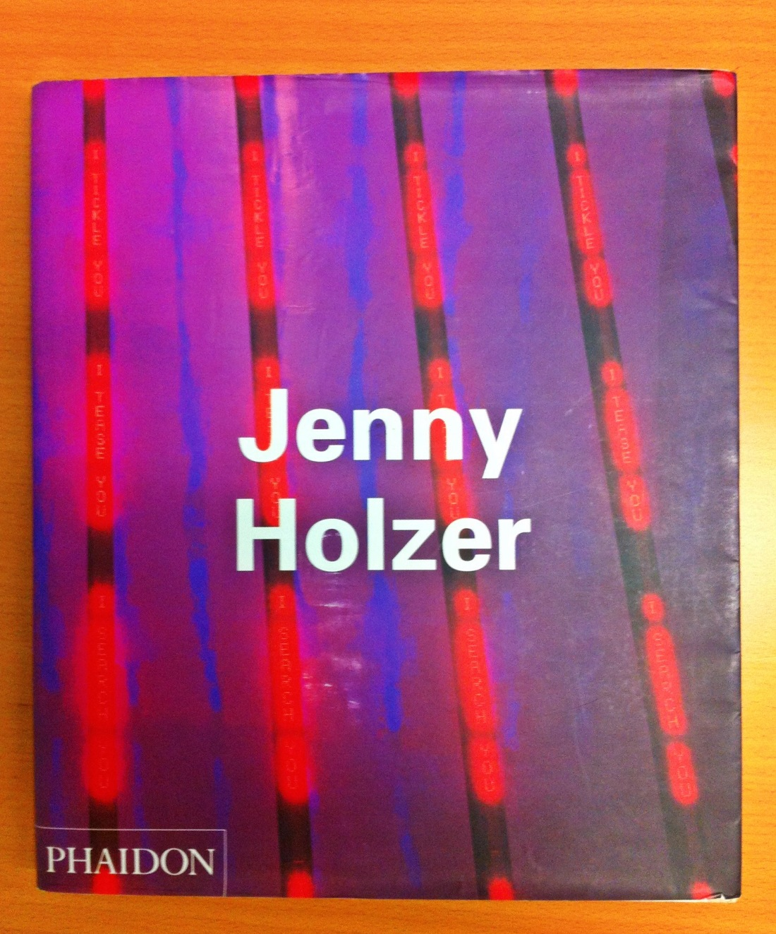jenny sophie the text became art inside turned out the jenny holzer s contemporary artists from phaidon