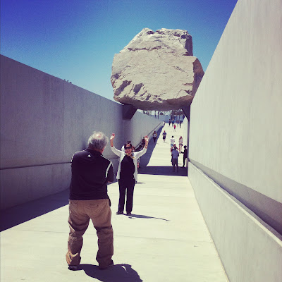 Michael Heizer's LEVITATED MASS at the LACMA